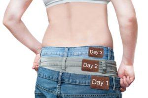 Масса тела существенно снижается