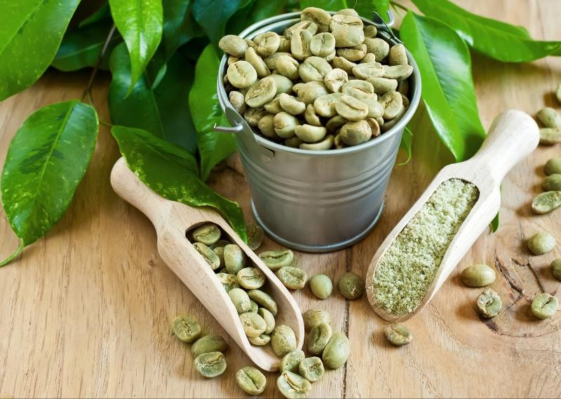 Зеленые кофейные бобы