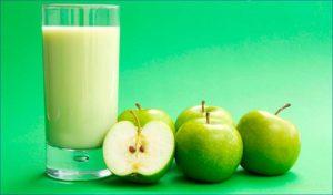 кефир - яблоко