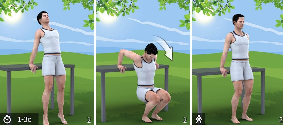 упражнение от остеохондроза 2