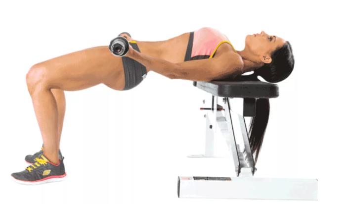 Упражнения со скамьей