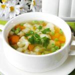 Днем употребите овощной суп