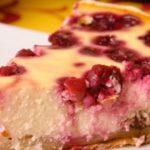 пирог из творога и вишни