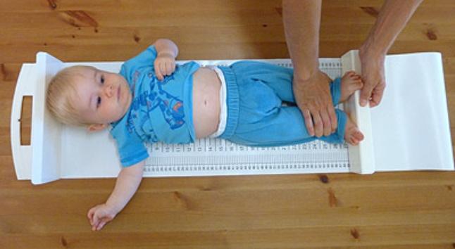 как измерить рост у грудничка