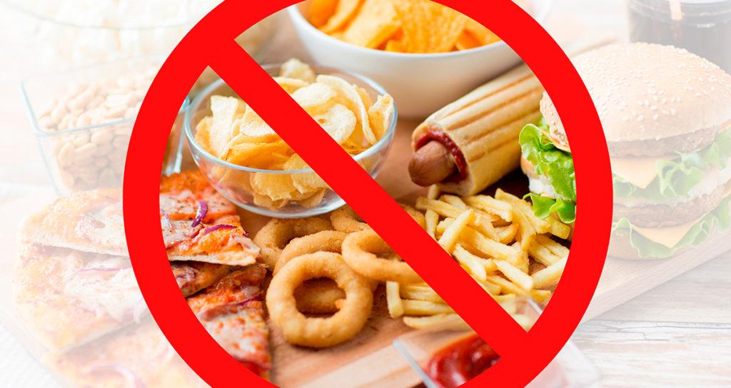 Исключение вредных продуктов