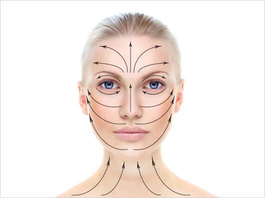 Массажные линии лица и шеи: техника выполнения классического массажа и схемы