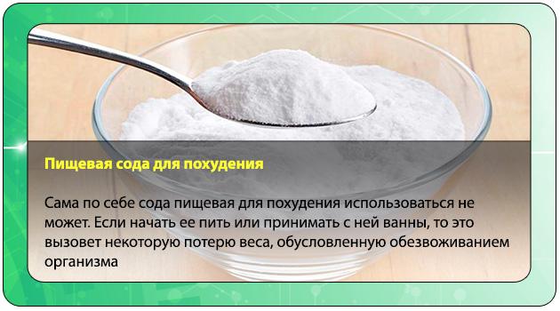 Как пользоваться содой чтобы похудеть