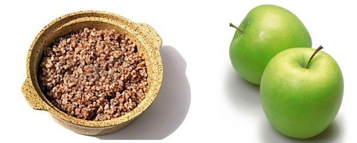 Яблочно гречневая диета