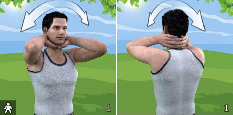 упражнение от остеохондроза 1