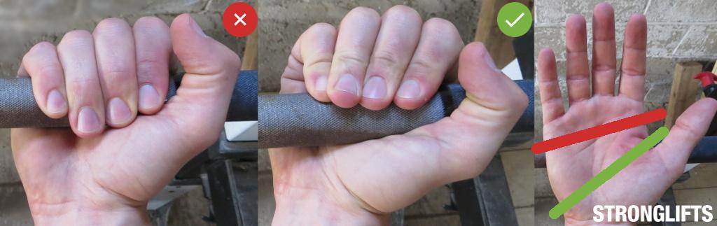 Техника жима штанги лежа —положение рук