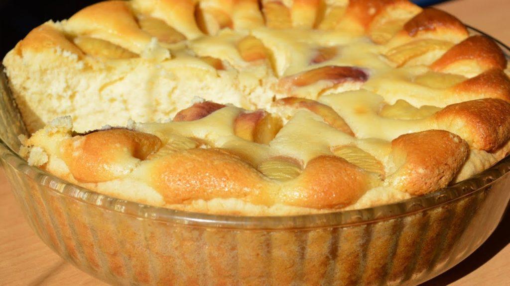 яблочно-творожный пирог для кормящей мамы рецепт