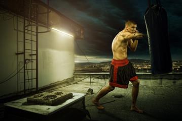 Тренировки по боксу на улице