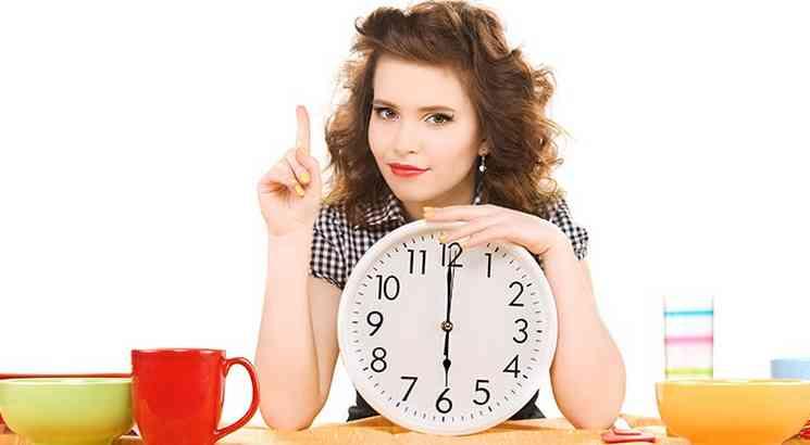 Питаться строго по времени