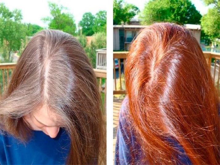 Секреты окрашивания волос хной в домашних условиях, результаты до и после