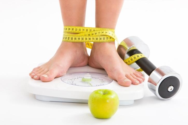 Снижение веса при сочетании потребления напитка совместно с диетой и физическими нагрузками