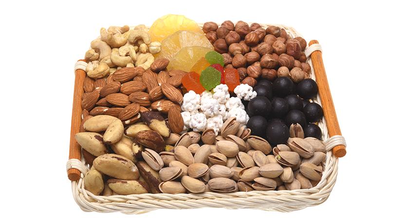 Фруктовый микс с орехами