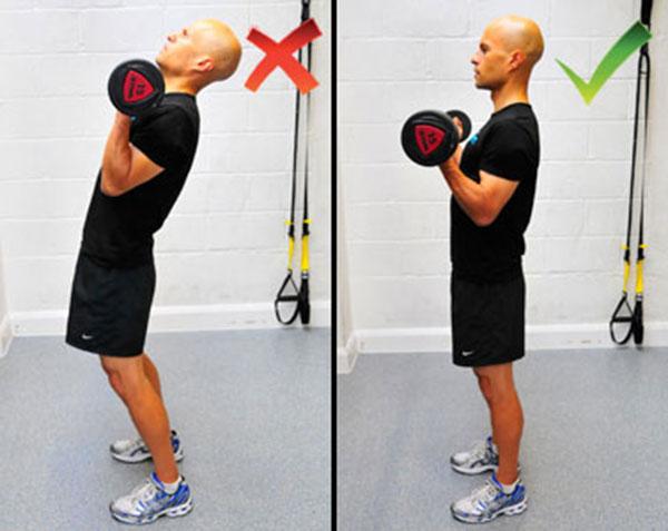 Правильная техника подъема на бицепс поможет избежать плохой боли в мышцах.