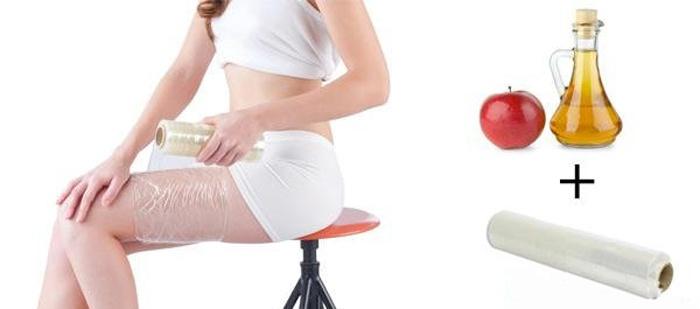 Обёртывание с яблочным уксусом для похудения