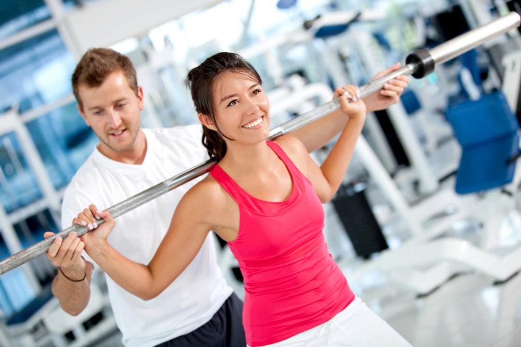 Занятия в фитнесс-центре