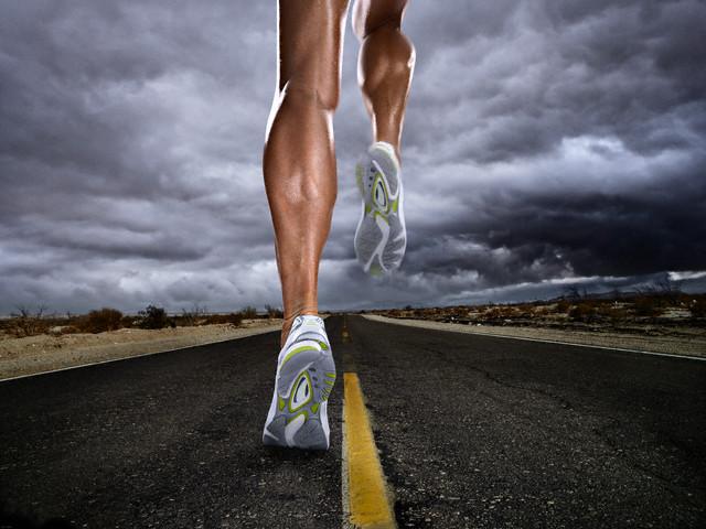 Legs of Runner of Rural Road